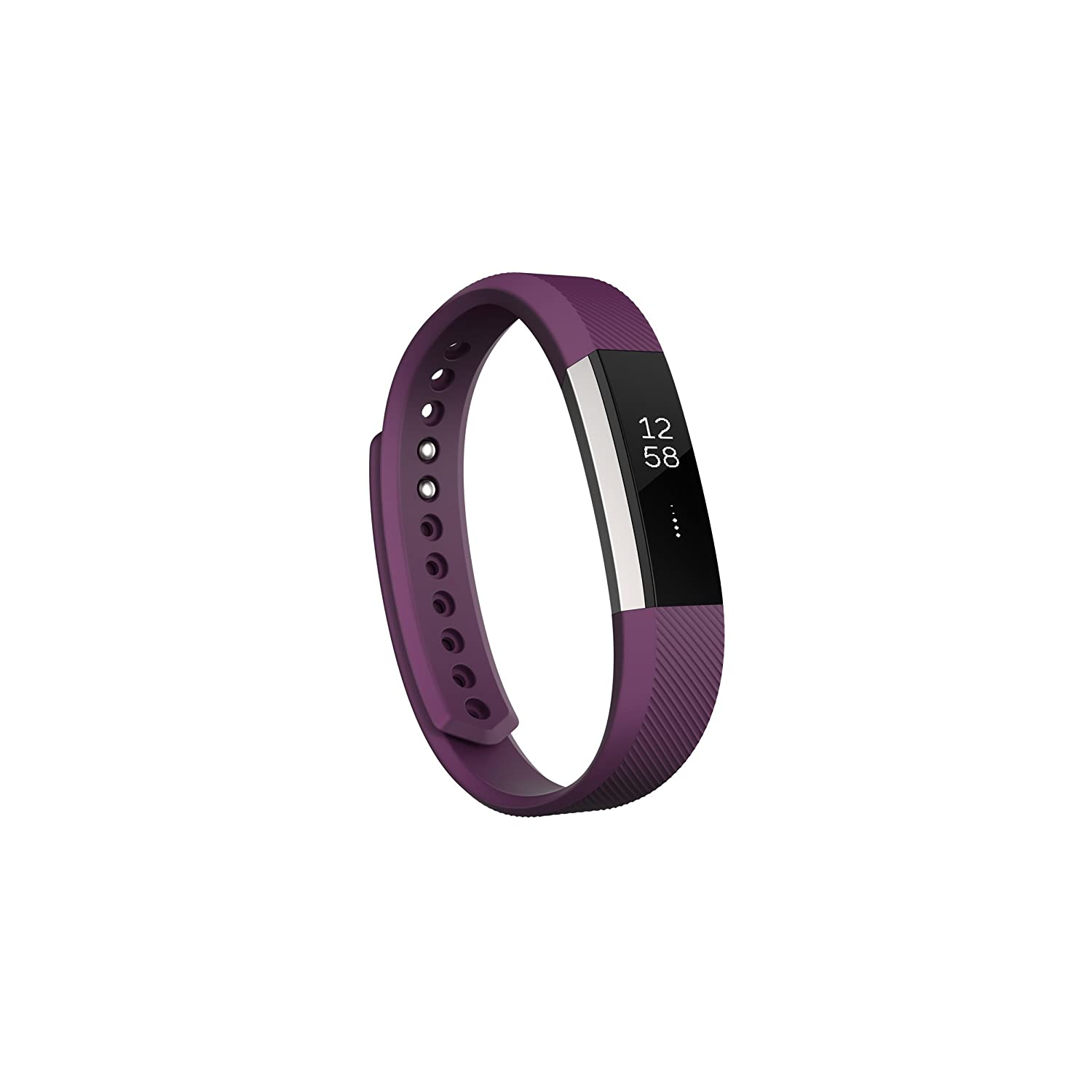 Fitbit Alta Fitness Tracker, Silver Plum, Small US Version Renewed