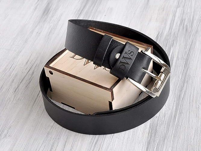 Customized text belt mens holiday gift custom belt