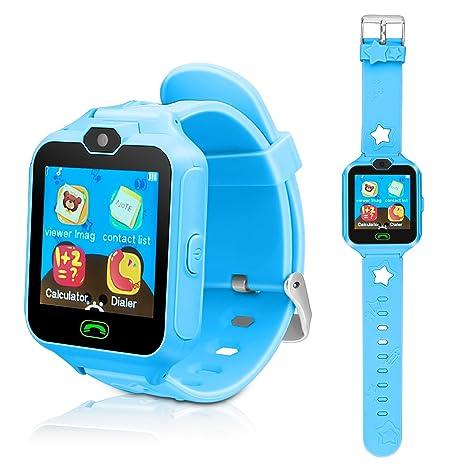 Kids Smart Cell Phone Watch,Smart Watch Phone Boys Girls SIM SD  Slot,Unlocked Waterproof SOS Phone Watch Camera Games Touchscreen Children  Cell Watch