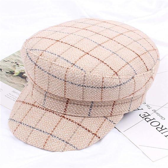 HSLPLX Gorras de Invierno para Mujer, Gorros de Tela Escocesa ...
