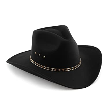 30ee88d44a2ce Western Pinch Front Faux Felt Cowboy Hat at Amazon Men s Clothing store