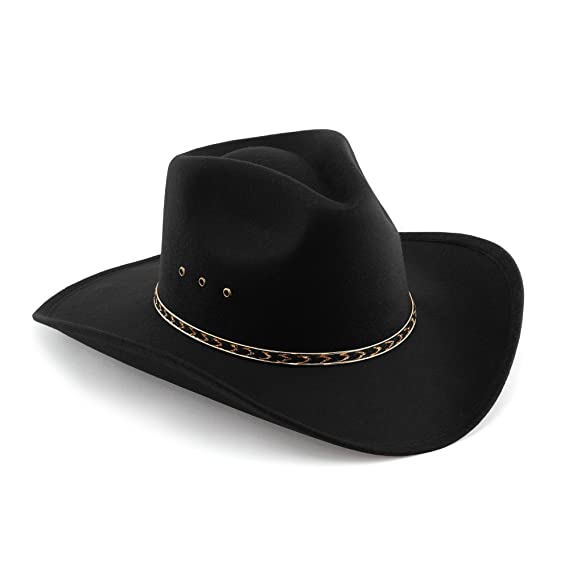 e04da955 Western Pinch Front Faux Felt Cowboy Hat: Amazon.co.uk: Clothing
