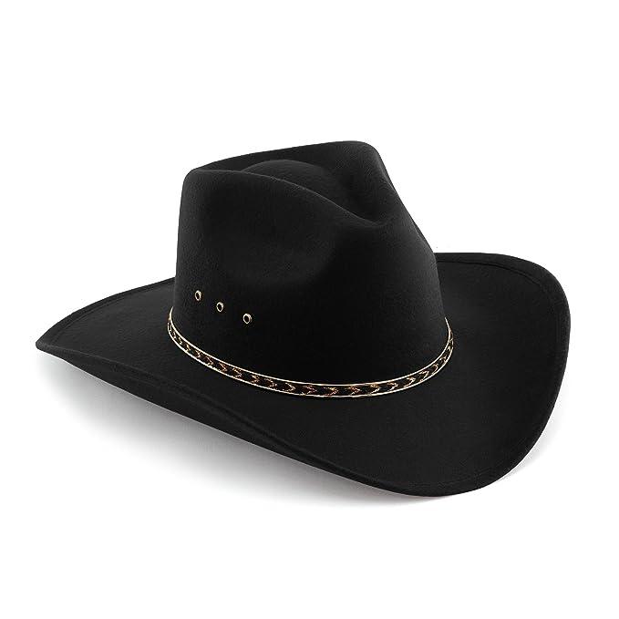 b8abbccb Amazon.com: Western Express Child Pinch Front Faux Felt Cowboy Hat ...