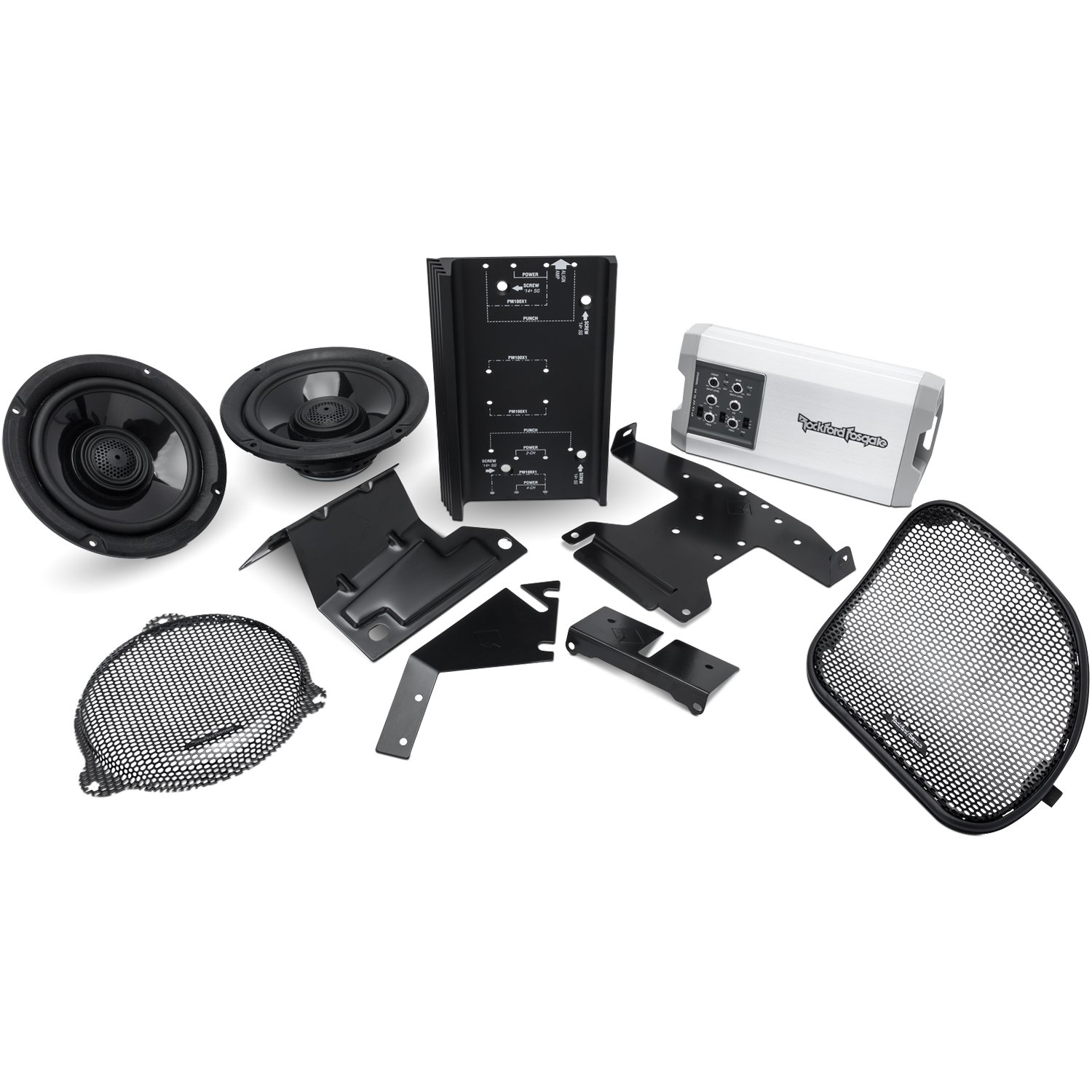 5. Rockford Fosgate HD14-TKIT Power Harley-Davidson Street Glide (2014+) & Road Glide (2015+) Front Audio Kit