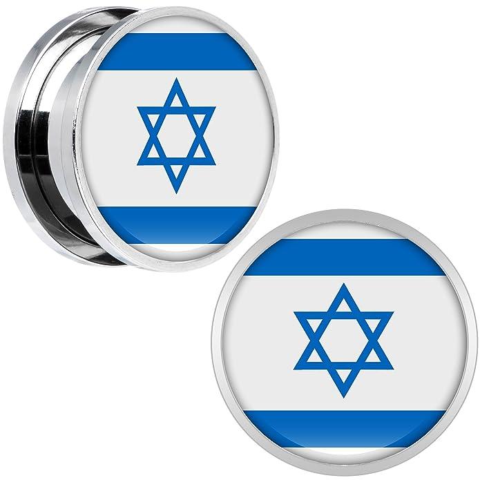 Cuerpo Caramelo Acero Inoxidable Bandera del Israel ...