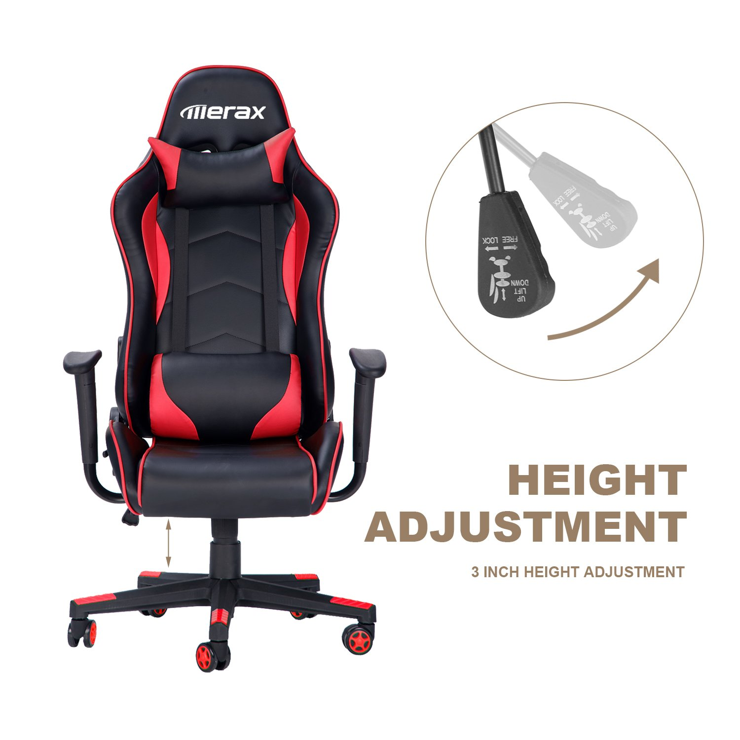 Amazon Merax Racing Style Gaming Chair Ergonomic Design High