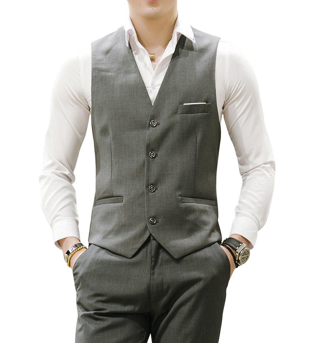 MOGU Gilet da uomo Causale Suit Gilet 10 colori