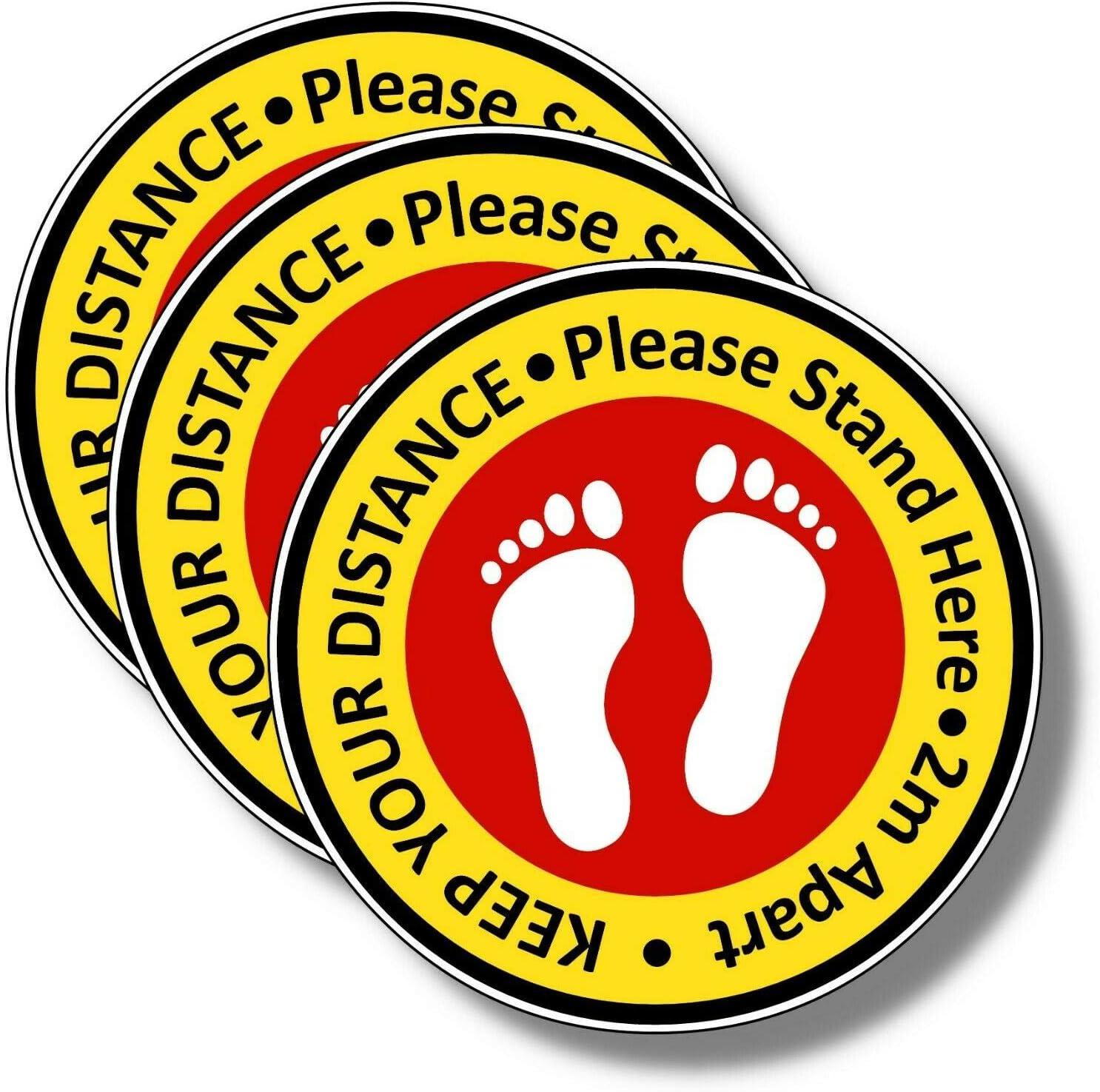 Stickers 8 200mm MULTIBUY shop floor stickers Social Distancing Floor Decals 5