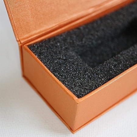 4x Anaranjado cajas de regalo magnéticas para USB: caja de regalo con solapa magnética. Incluye espuma, para usar con memorias flash y unidades extraíbles. Presentación de boda caja regalo, Obsequio: Amazon.es: Hogar