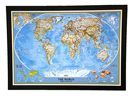Amazon Com Giant Best Selling Push Pin Map Of The World Nat Geo S