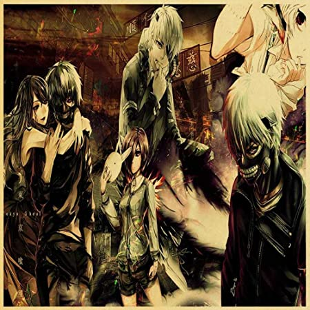 zlhcich Dibujos Animados Anime Ghoul Retro Poster Mural ...