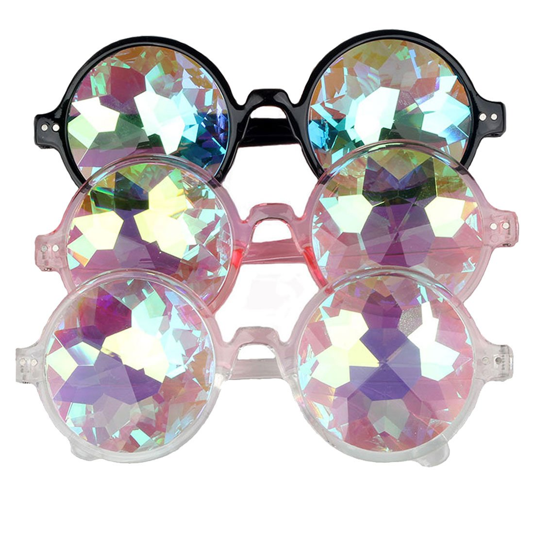 Festivals Kaleidoscope Glasses Rainbow Prism Sunglasses Steampunk Goggles by FIRSTLIKE