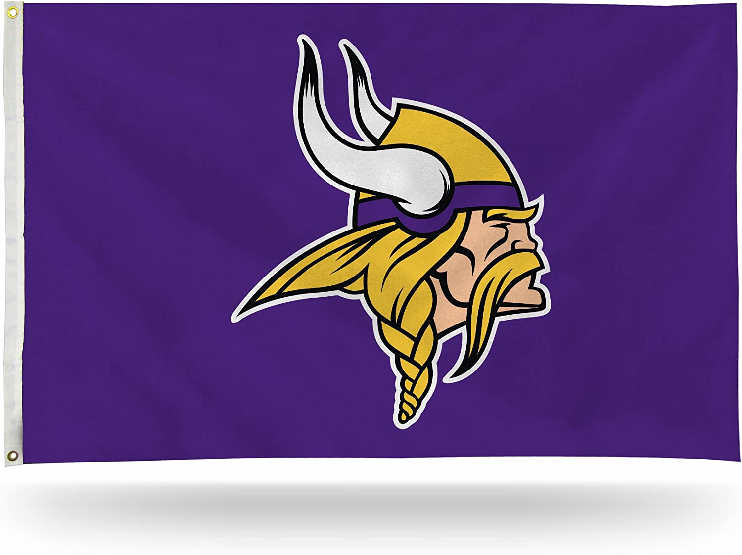 NFL Rico Industries 3-Foot by 5-Foot Single Sided Banner Flag with Grommets, Minnesota Vikings