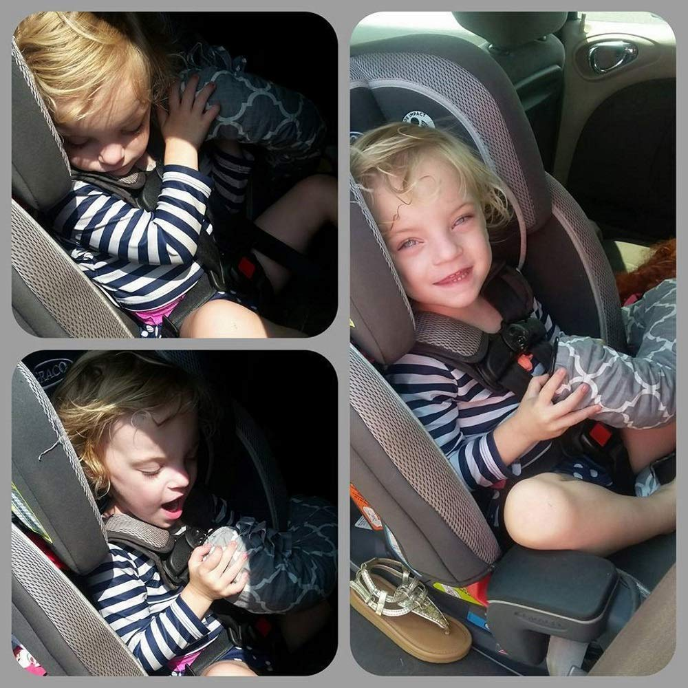 Extend Hot and Cold Air from Your Dash AC Vent to Kids in The Back Seat Summer and Winter Vehicle Baby Traveling System to Keep Children Comfortable in The Car 8ft Purple Squiggles Noggle
