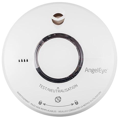 AngelEye Elegance Expert ST 620 – Detector de humo, incluye batería con 10 años de