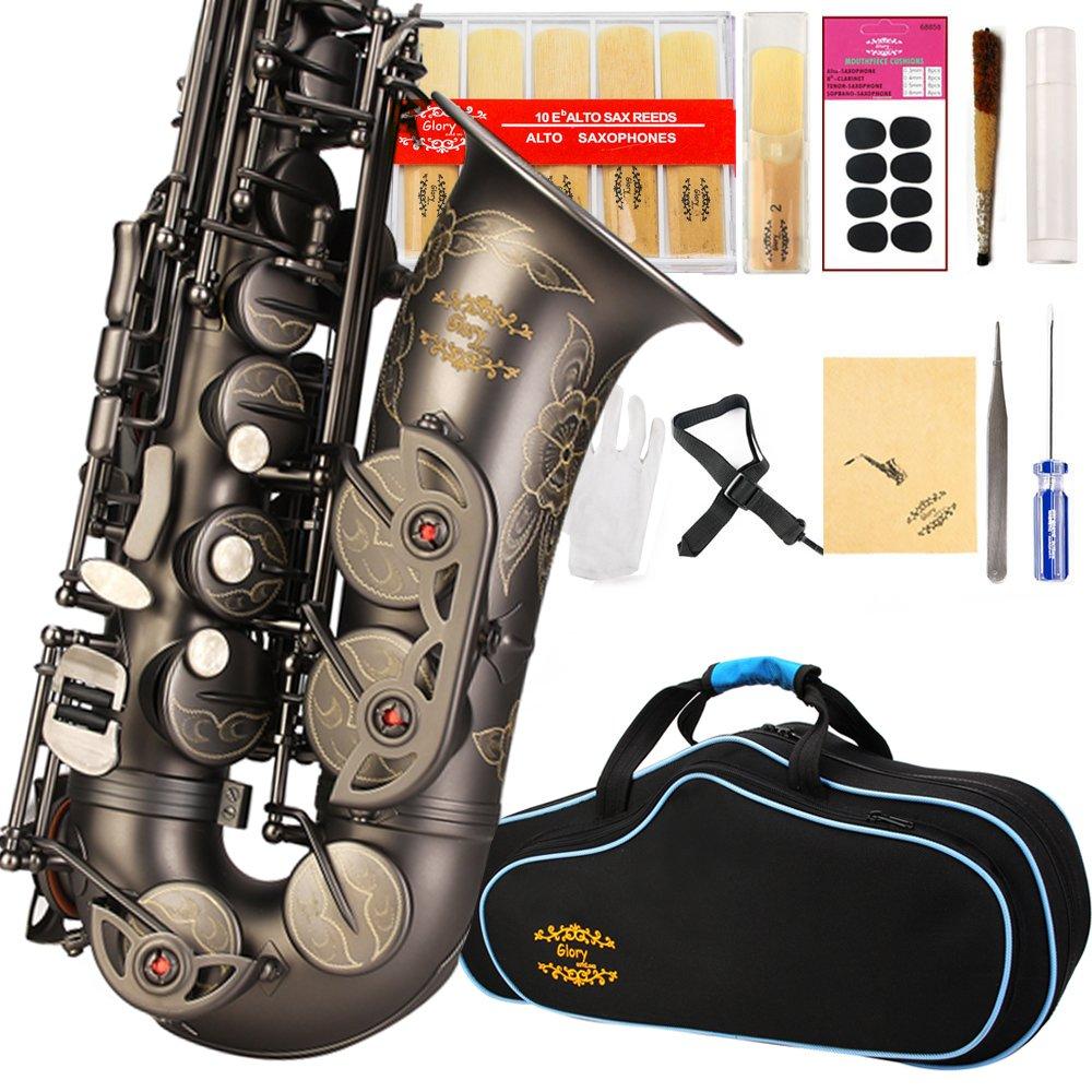 saxofón alto, funda,  Kit de cuidado, Glory E Flat (xmp)