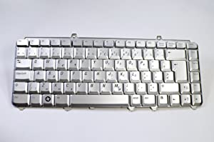 Dell New Genuine OEM Inspiron 1420 1421 1520 1521 1525 1526 XPS M1330 M1530 Laptop Notebook NSK-D9A08 9J.N9382.A08 Silver 87 Keys Dutch Netherland Keypad Typing Board Keyboard Assembly RN169