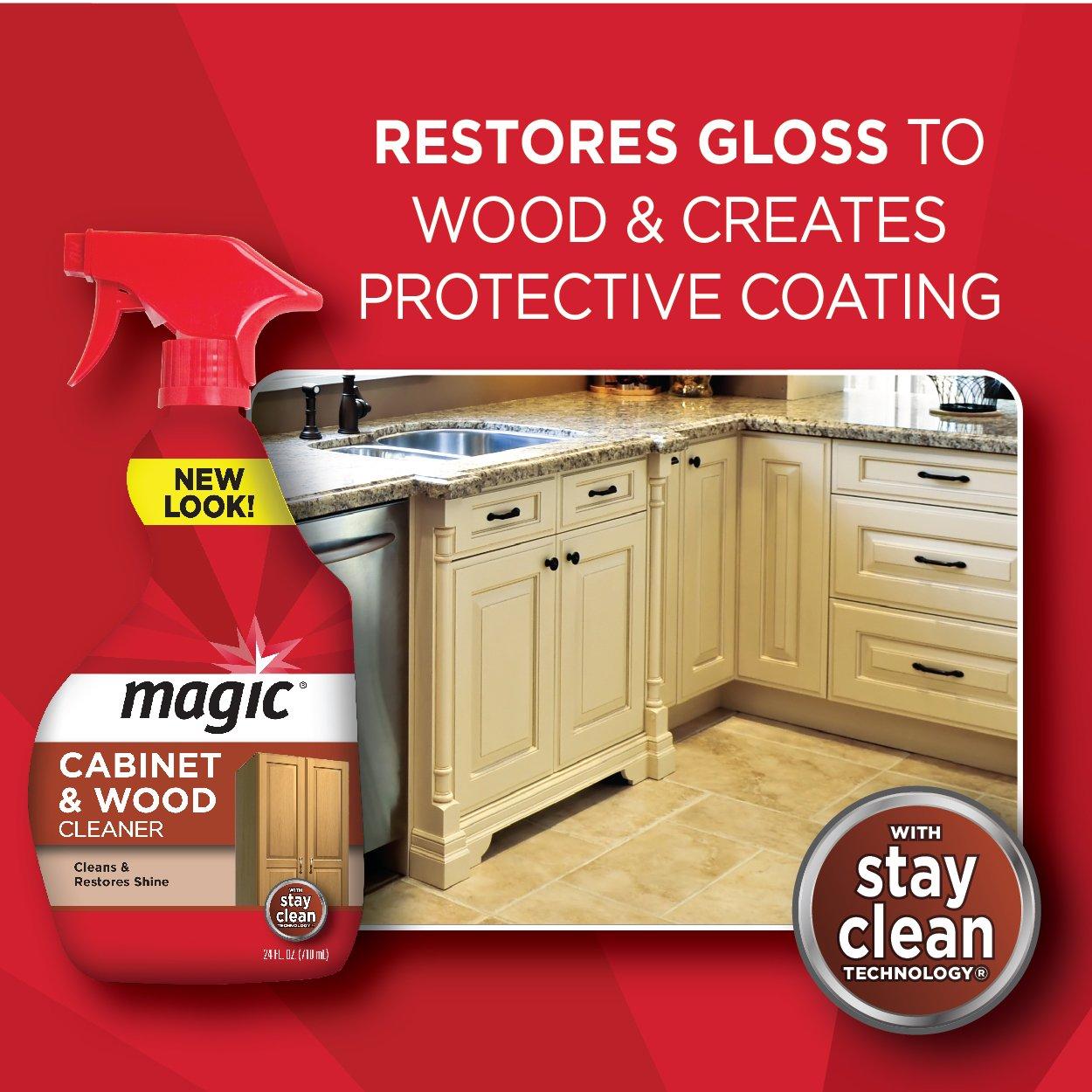 Cabinet Magic Cleaner Amazoncom Magic Cabinet Wood Clean Shine 14 Fl Oz Health