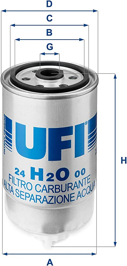 Ufi Filters 24 H2o 00 Dieselfilter Auto
