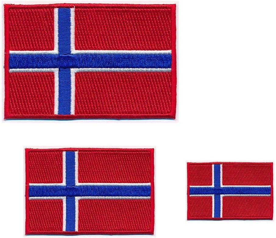 3 Königreich Norwegen Flaggen Oslo Norway Flags Patch Aufnäher Aufbügler 0649 Küche Haushalt