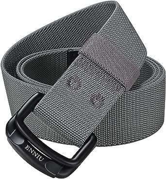 ITIEZY Nylon Hombre Cinturones D-ring Hebilla Metal y Caja De Regalo Negra Elegante Como Regalo Tactico Cinturon: Amazon.es: Ropa y accesorios