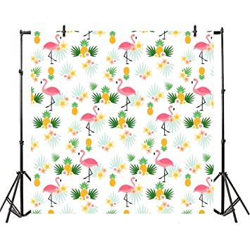 8x12 FT Vinyl Photography Backdrop,Vintage Inspired Foliage Pattern with Blooming Flowers Spring Season Illustration Background for Child Baby Shower Photo Studio Prop Photobooth Photoshoot