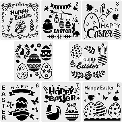 6 Washable Plastic Halloween Stencils for Kids CraftsKids Craft Stencils