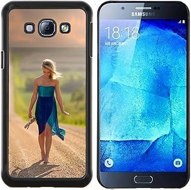 Funda para Smartphone carcasa rígida cubierta protectora para Samsung Galaxy A8 A8000/funda TECELL/doroga prostor meter devushka para guardar: Amazon.es: Electrónica
