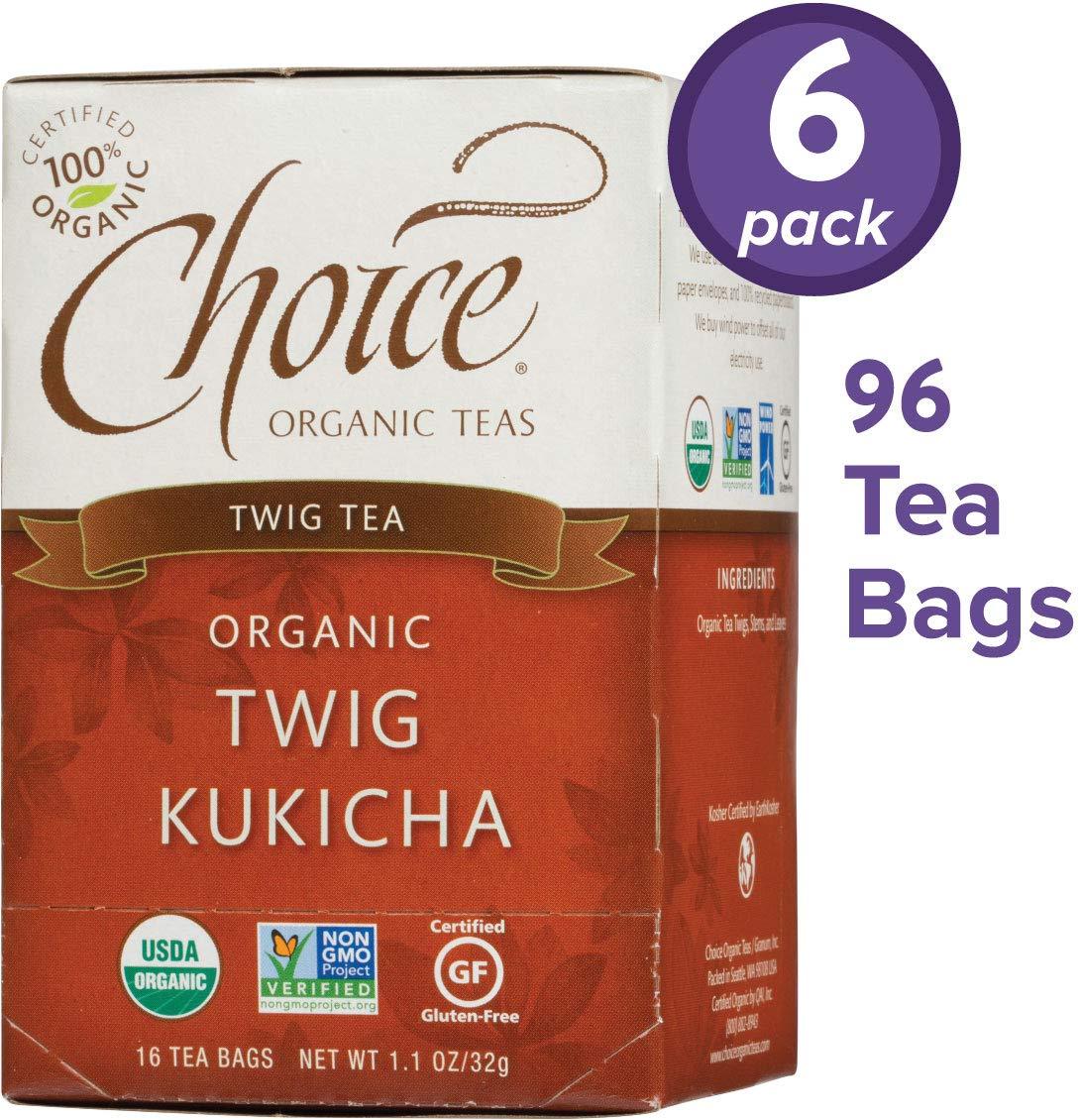 Choice Organic Teas Twig Tea, 6 Boxes of 16 (96 Tea Bags), Twig Kukicha