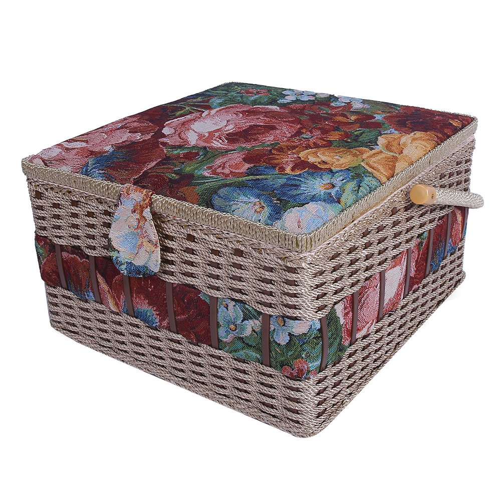 Crafts Sewing Storage Box Containers Extra Large Double Layer with