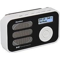Karcher DAB 2410-W tragbares Digital-/UKW-Radio (DAB+, Wecker, Akku) weiß