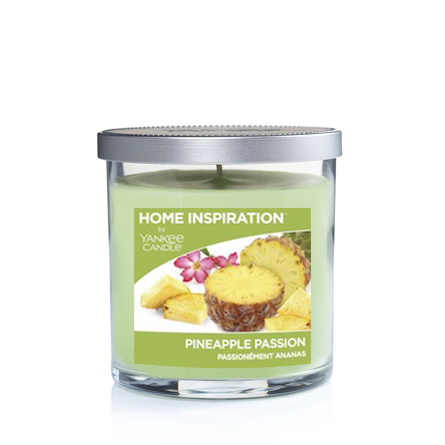 Home Inspiration by Yankee Candle home fragrance aromatherapy luxury scented perfumed Candle Glass Jar with Lid - Approx. burn time 40 hours - 2 wicks (Lemon Meringue)