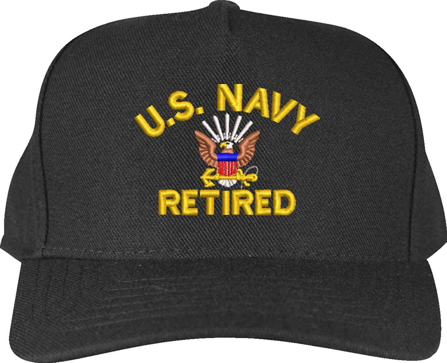 MilitaryBest U.S Navy Retired Embroidered Cap
