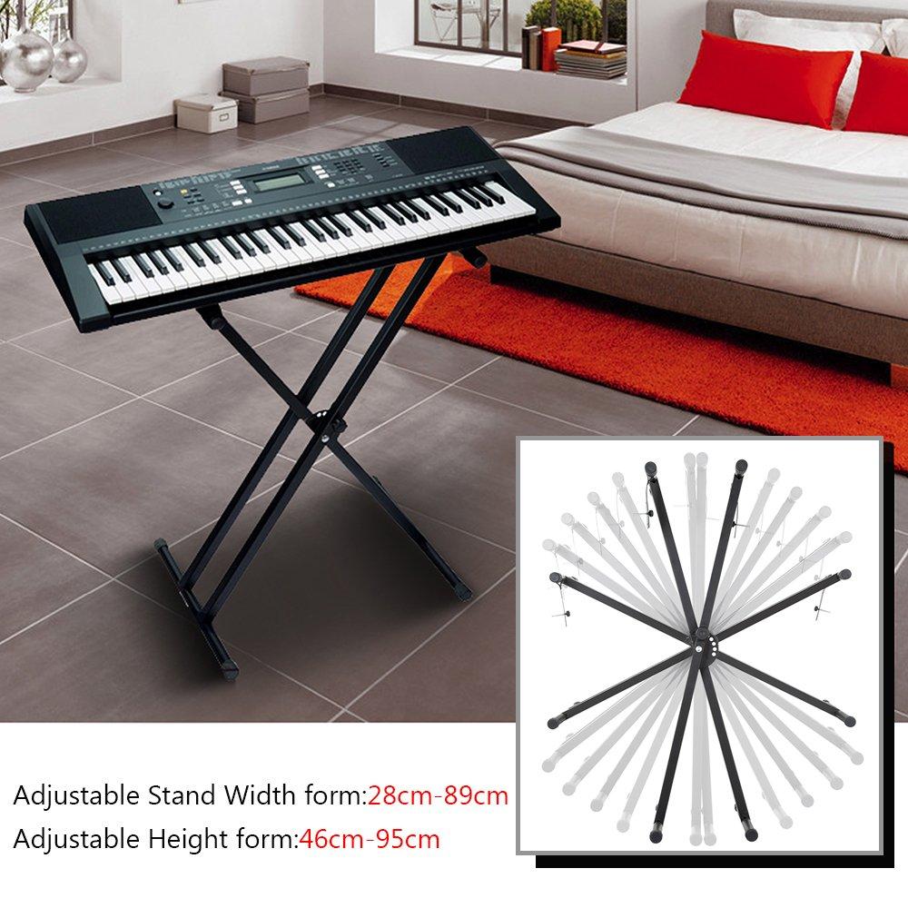 urpire doppelstrebig Robuster Keyboard-Ständer, schwarz: Amazon.de ...