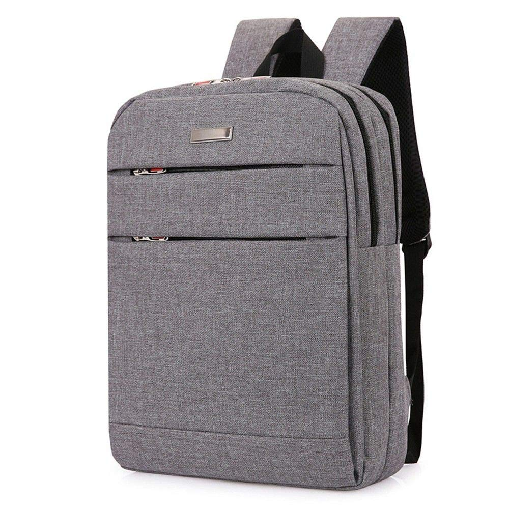 Grey DYR Computer Bag Student Bag Outdoor Travel Bag Men and Women Casual Shoulder Bag Handbag Chest Bag 15 Inch