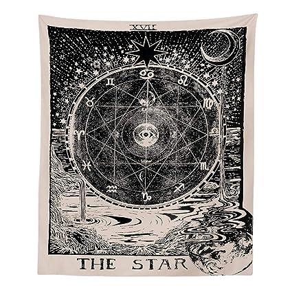 AidShunn Tarot Tapiz La Estrella Misterioso Divinidad Colgar en la Pared Decoraciones Manta para Dormitorio Decoración del Hogar