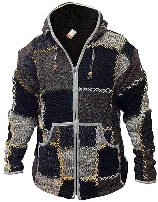 Shopoholic Fashion De Lana Hombres Patchwork súpercálido ...