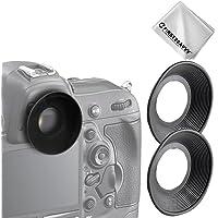 First2savvv DSLR SLR-Kamera Gummi Augenmuschel-Sucher für Nikon D610 D600 D300S D7200 D7100 D7000 D90 D300 D200 D80 D70 D70S D60 DSLR Camera DK-21 DK-23 Camera + Reinigungstuch - QJQ-OX-N-X2-01