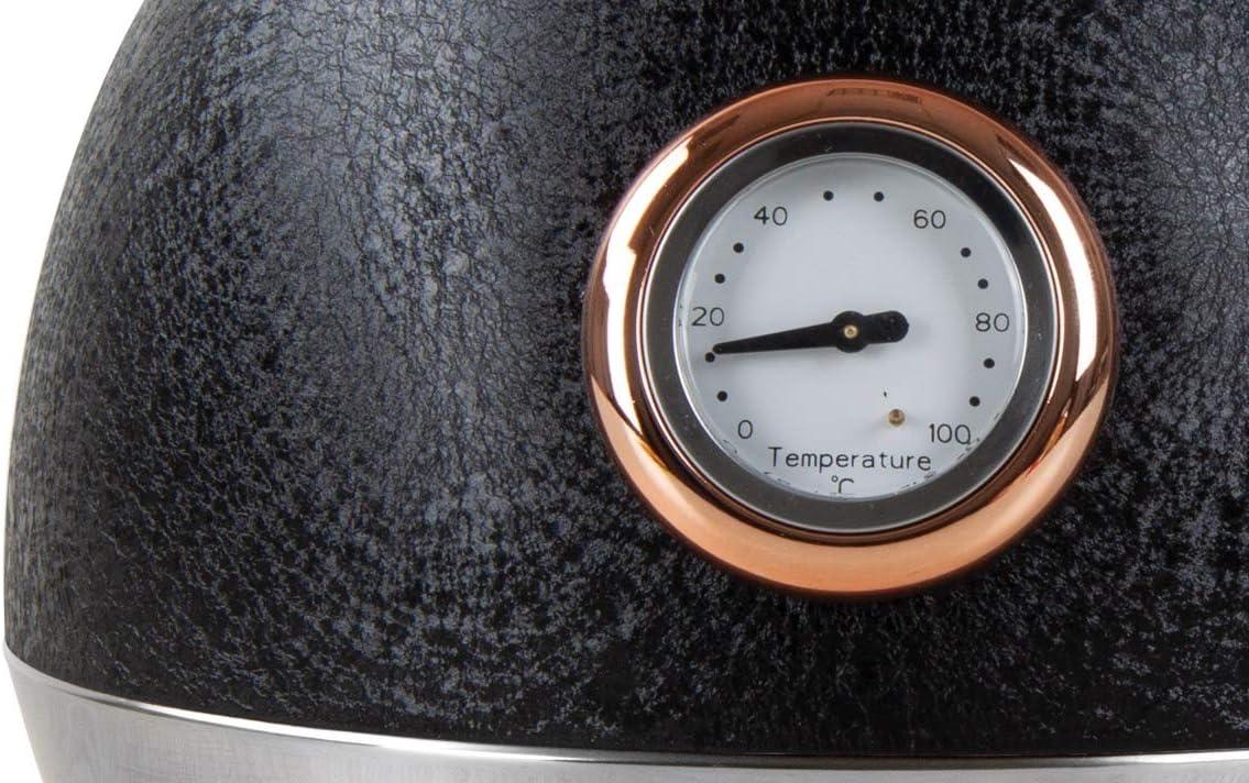 Hervidor el/éctrico con pantalla de temperatura color rosa negro 2200 W, 1,8 L SQ Professional Epoque