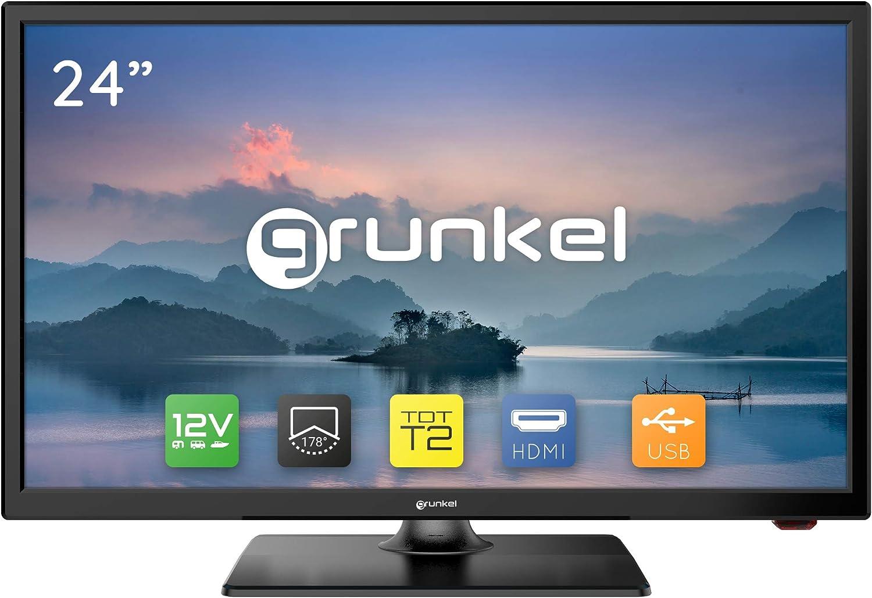 Grunkel - LED-24 IV2 - Televisor LED HD Ready Alta definición. Fabricado en España - 24 Pulgadas - Negro