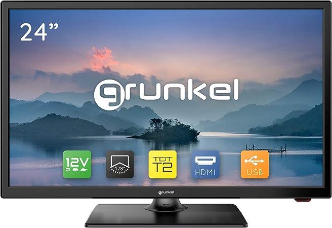 Grunkel - LED-24 IV2 - Televisor LED HD Ready Alta definición. Fabricado en España - 24 Pulgadas - Negro: Amazon.es: Electrónica