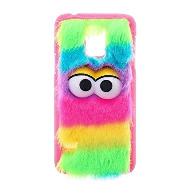 newest collection 7f7a4 f26dc Claire's Girls/Womens Furry Rainbow Monster Phone Case - Samsung ...