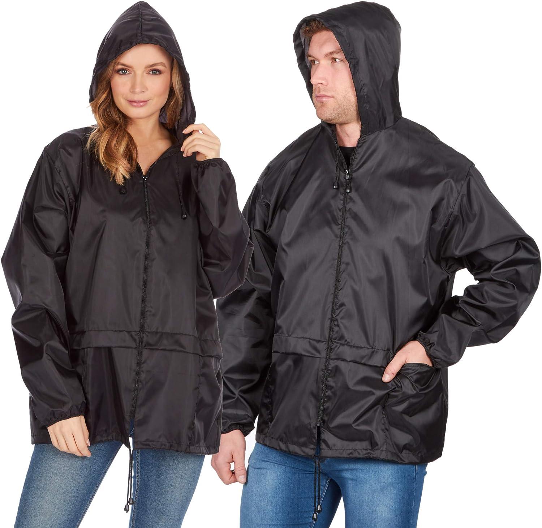 f/ür Erwachsene Gr Regenjacke mit Kapuze X-Large schwarz unisex