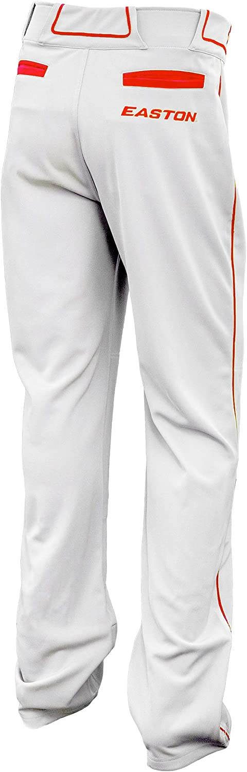 Easton Walk-Off Softball Pant Open Bottom Hem Opening Innovative Adjustable Inseam System Large| White//Red Piped Double Reinforced Knee Adult 2020 2 Back Pockets