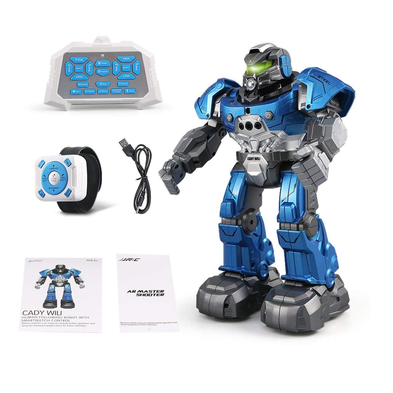 Ballylelly JJR / C R5 Cady WILI Intelligente Roboter Fernbedienung Programmierbare Auto Folgen Geste Sensor Musik Dance RC Spielzeug Kinder Geschenk (Blau)