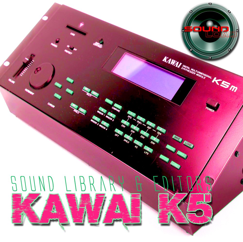 KAWAI K5/K5m - Large Original and New created Sound Library & Editors on CD or download