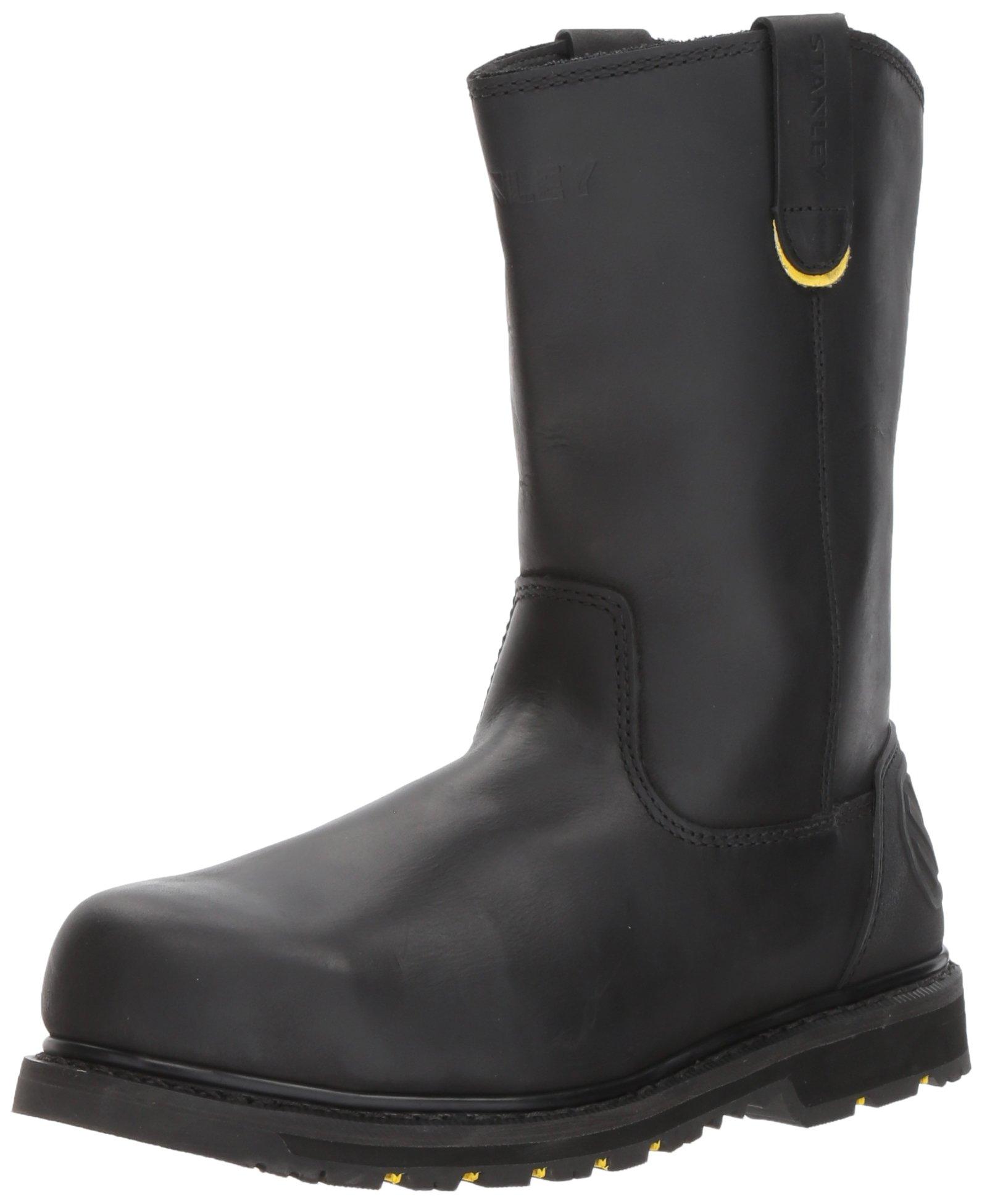 Stanley Men's Dropper 2.0 Steel Toe Industrial and Construction Shoe, Black, 11 M US