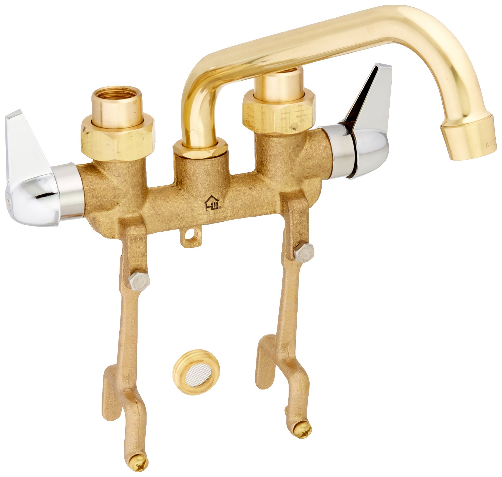 Hombd|#Homewerks 3310-255-RB-B Homewerks Two Handle Laundry Tray Faucet with Straddle Legs, Rough Brass, by Homewerks