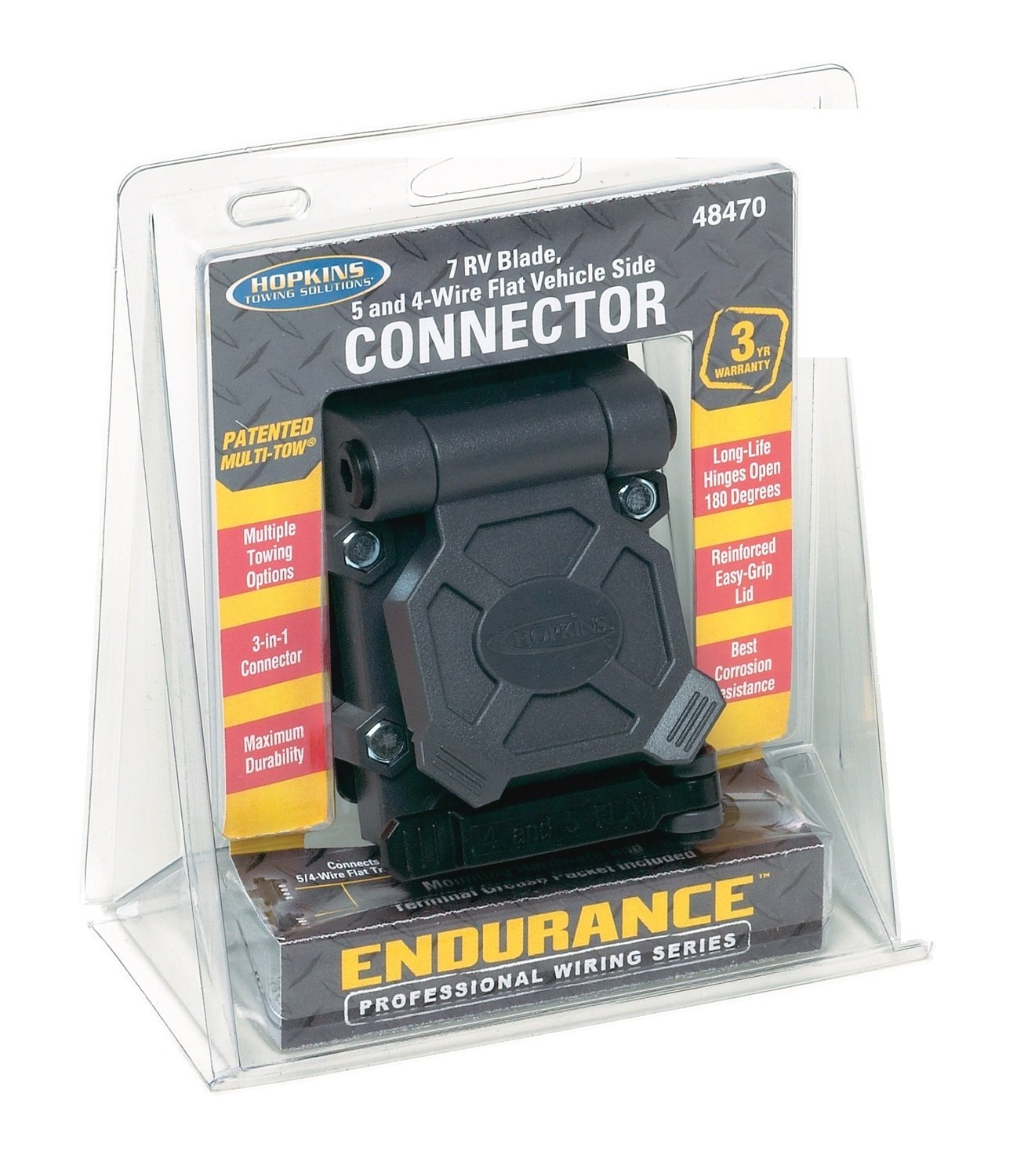 Hopkins 48470 Endurance Multi Tow Vehicle Side Connector Plug In Simple Wiring Harness With 4 Pole Trailer Automotive