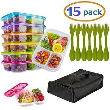 Amazon.com: Recipientes de preparación de comidas con tapas ...